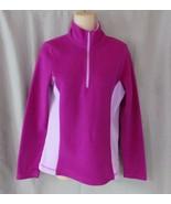 Tek Gear jacket  fleece active wear  Small  purple pink 1/2 zip unlined - $11.71