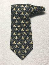 Structure Triangle Pattern Birds Necktie Tie - $9.86