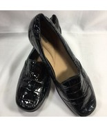 Clarks Bendables Bayou Leather Croco Embossed Slip-on Loafers 8 N Narrow... - $34.62