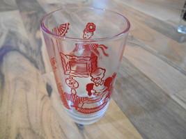 Old Vintage Swanky Swig Cup Glass Red Victorian Ladies Women Tea Gone Wi... - $9.99