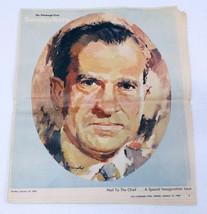 ORIGINAL Vintage Jan 19 1969 Pittsburgh Press Roto Richard Nixon Newspaper - $29.69