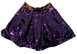 Bardot Junior youth girls sequined skirt purple/gold size US 6X-7 (A-1A) - $14.75