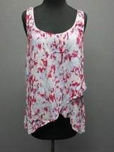 SPLENDID Light Blue Pinks Rayon Scoop Neck Sleeveless Top Shirt Sz M SM8024 - $29.69