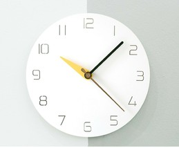 Moro Design 3 Color Hands Wall Clock non Ticking Silent Clock (Classic Yellow) image 2
