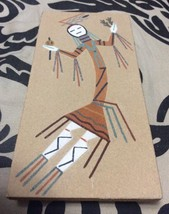 "Vintage Navajo Sand Painting Kachina Signed Rainbow Lee SW New Mexico 8""... - $19.34"