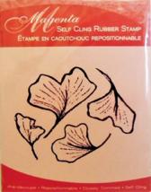 Magenta Leaves Rubber Stamp #37263J