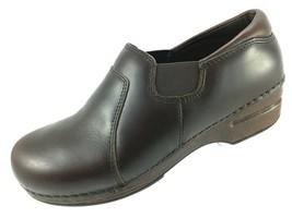 SH14 Dansko XP EUR 39 US 8.5-9 Brown Leather Shoe Nursing Professional Clog - $35.63