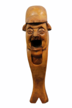 """Vintage Hand Carved Wood Nutcracker 7.5"""" Tall Man Mouth Opens Standing image 2"""