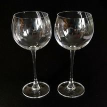 2 (Two) LENOX TUSCANY CLASSICS Crystal Balloon Wine Glasses- Signed - $23.74