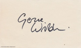 Gene Wilder Autographed 3x5 Signature Page - $110.00