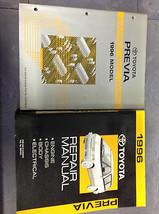 1996 Toyota Previa Van Service Shop Repair Manual Set W Ewd & Tech Bulletins X - $152.78