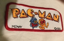 Vintage 1981 Midway Pac Man Patch Embroidered Pacman Badge - $9.94