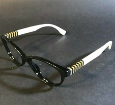 FENDI Black Yellow White Rimmed Round Cats Eye Eyeglasses Frames FF0016 7TX - $65.45