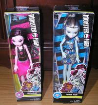 Mattel Monster High Dolls Draculaura Frankie Stein New Sealed Box Retire... - $28.79