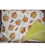 Disney Baby Simba Cub Blanket Green Cream Circles Paw Prints The Lion King - $26.18