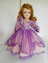 "Vintage 1950's Mary Hoyer 14"" Hard Plastic in Purple Gown - $150.00"