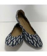 Lucky Brand ECHO 2 Womens Canvas Ballet Flats Shoes Size 9.5 Blue and White - $27.69