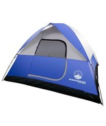 Portable Camping Tent 6 Person Capacity Blue Dome Outdoor Shelter Waterp... - $33.99