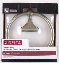 NIB NEW Delta Towel Ring, Amaya Collection, Satin Nickel Finish, AMA46-SN - $16.99