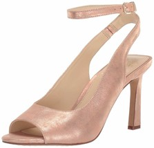 Vince Camuto Heeled Peep Toe Sandals - Rateema Metal Papaya 10 M - $69.29
