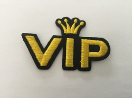 VIP Embroidered Patch - $2.60