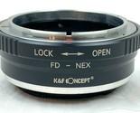 K&F Concept Lens Mount Adapter Canon FD Lens to Sony E NEX Mirrorless Cameras