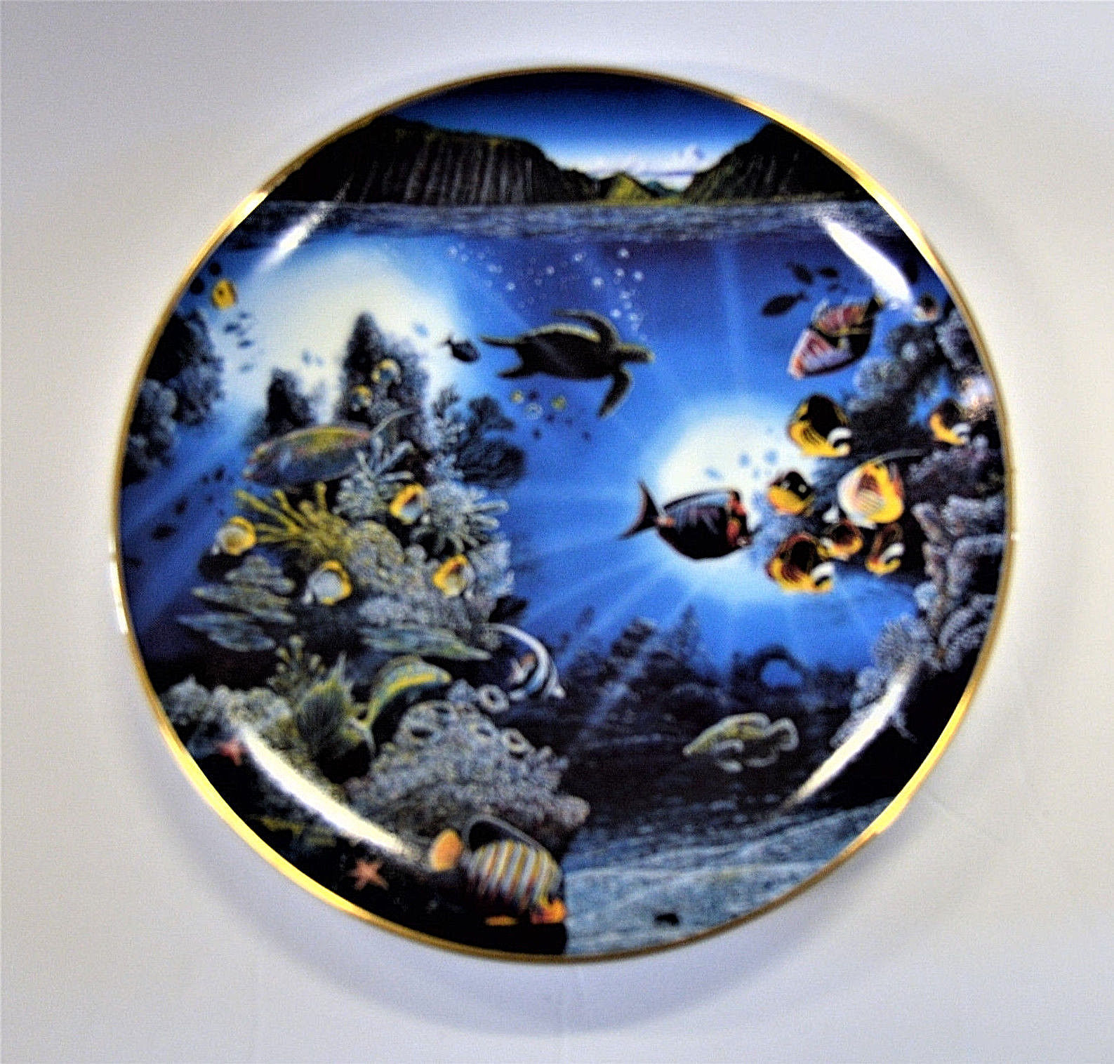 Danbury Mint Underwater Paradise Plate Set Robert Lyn Nelson with Boxes Lot of 5 image 6