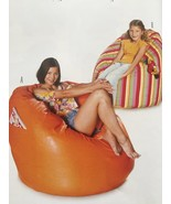 Burda Sewing Pattern 8373 Beanbags Chairs Two Sizes Uncut - $13.43
