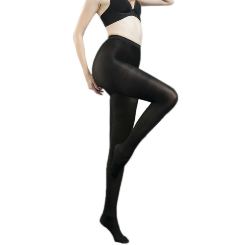 Plus Size Super Shiny Glossy Sheer Stockings Tights Pantyhose Crotch//Crotchless
