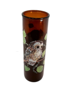 """Vintage 1970s Brown Glass 9"""" Owl Candle - Great Retro Decor Piece - £14.60 GBP"""