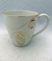 Lenox China Jewels pattern - Holiday theme Coffee Mug - Gold trim - 4 1/... - $7.43