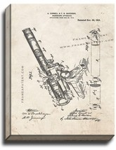 Microscope Patent Print Old Look on Canvas - $39.95+