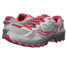 Saucony Excursion TR11 Women's Running Shoes Wide Grey/Pink 6.5 - $58.42