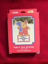 Hallmark Keepsake Ornament Baby's first Birthday 1989 MINT - $9.49