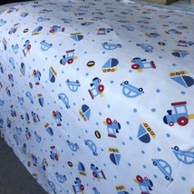 "100% Cotton Fabric Cartoon Car Quilting sewing Material 80""×65"" Super Soft - $29.69"