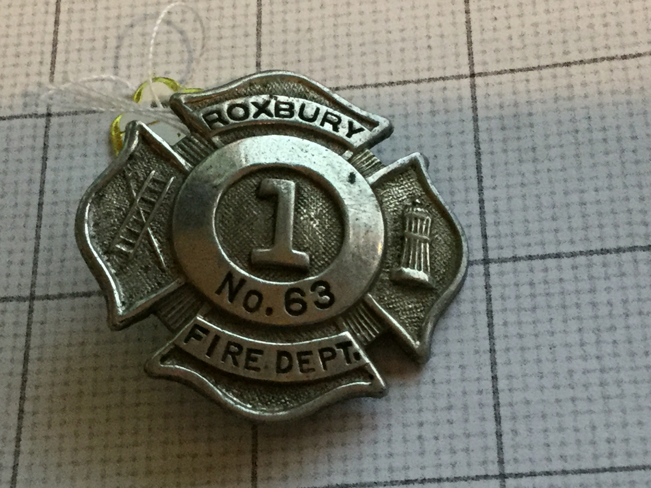 Primary image for Obsolete Roxbury Fire Department #63 Badge