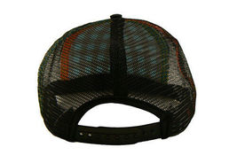 Official Nero Turchese Checker Rete Berretto da Baseball Cappello Snapback Nwt image 4