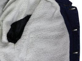 NYT Men's Classic Button Up Cotton Sherpa Trucker Denim Jean Jacket image 5