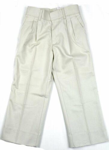 Young Men's Student Fit Uniform Pants Pleated Arthur's School Work Khaki NEW