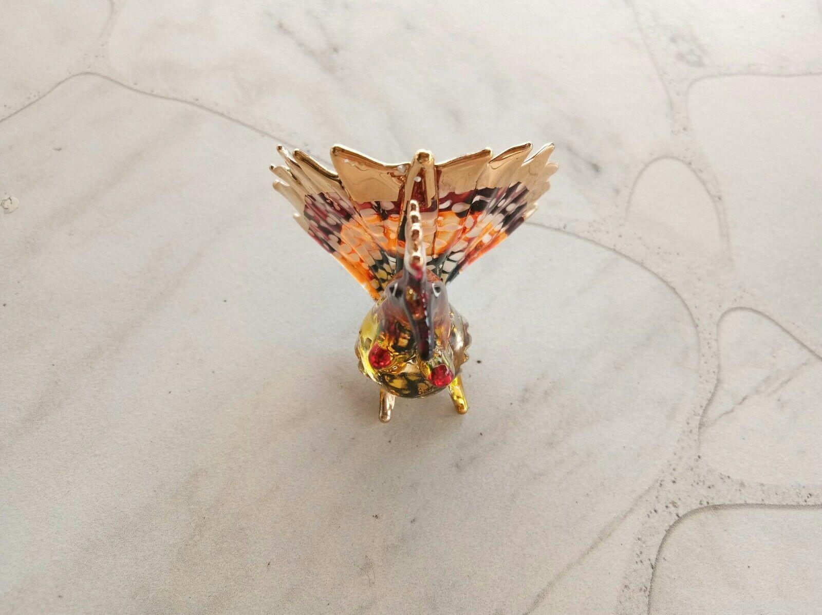 Chicken Hen Hand Blown Glass Figurine Art Miniatur Statue Decor Animal Miniature