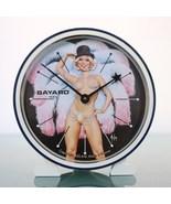 BAYARD Aslan Alarm Clock PIN UP Girl  Paris Vintage Mantel Motion Animat... - $195.00