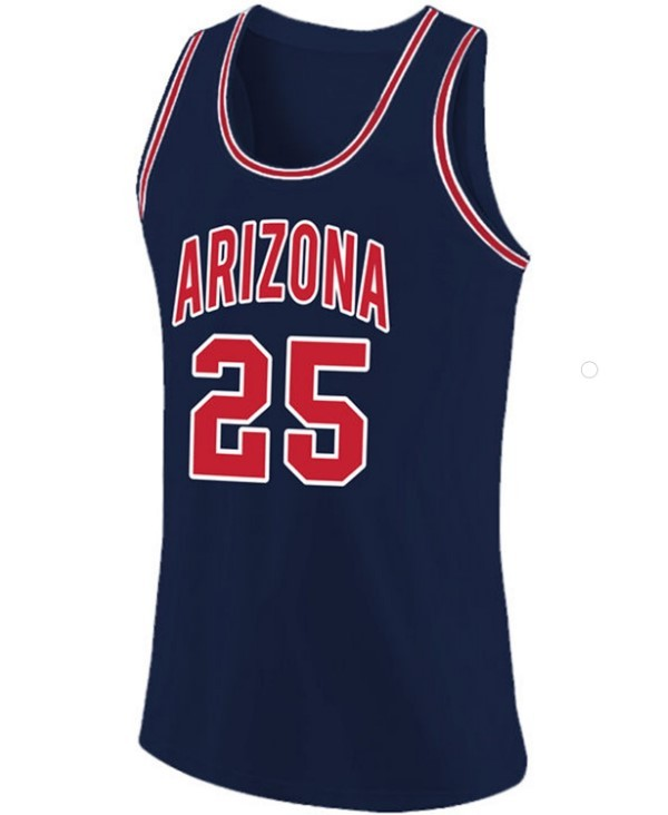 Steve kerr arizona basketball jersey navy blue   1