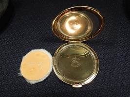 Vintage ca1960s Coty Exquisite Goldtone Airspun Compact Paris New York - $22.28