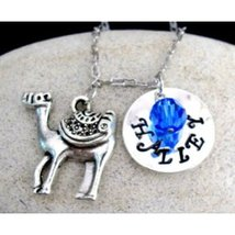 Camel charm Necklace Name hand stamped necklace... - $15.60