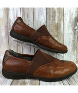 Aravon By New Balance 9.5W Combination Last Loafer Brown Leather Vibram Soles - $40.99