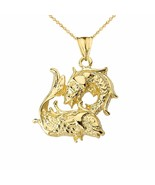 Fine 10k Solid Gold Pisces Zodiac Pendant Necklace - $207.80+