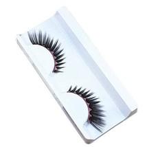 Set of 3 Black Inkjet Style Pink Wavy Stripe Pattern Stage False Eyelashes image 1