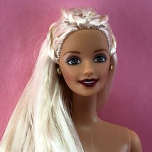 Barbie Platinum Blonde GG CEO TNT Doll w Fancy Long Hair Gray Eyes Dark ... - $8.00
