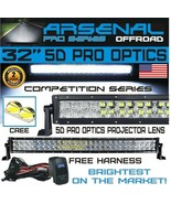 """5D 32""""Inch Pro Series Curved Cree Led Light Bar Spot Flood Offroad Truck... - $111.33"""