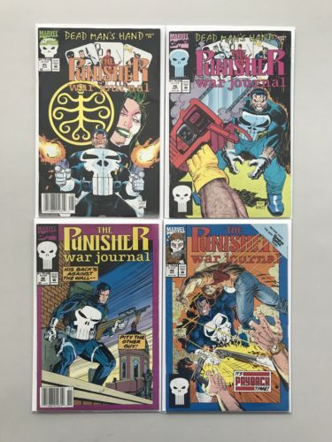 Lot of 9 Punisher War Journal (1988 1st Series) from #10-49 VF Very Fine